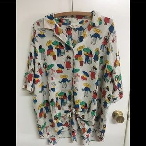 Over sized vintage 80's blouse